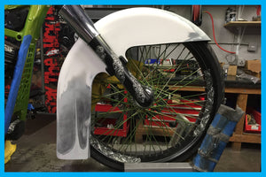 DIRTYBIRD CONCEPTS - FRONT FENDER- Harley Softail Front Fender El Chingon 21″, 26″