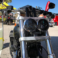 "HOGWORKZ - HEADLIGHTS - HOGWORKZ - HEADLIGHTS - Blackout 4.65"" Harley Dyna Fat Bob Daymaker Style LED Headlight"
