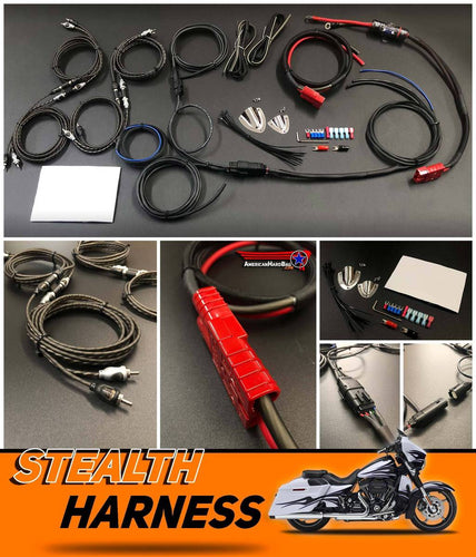 American Hardbag Custom Harley Saddle Bag Wire Harness for Speakers & Amplifiers