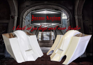 INSANE ASYLUM - REAR END SET - 8 Back at Ya bags and Fender with or without Exhaust Cut-outs