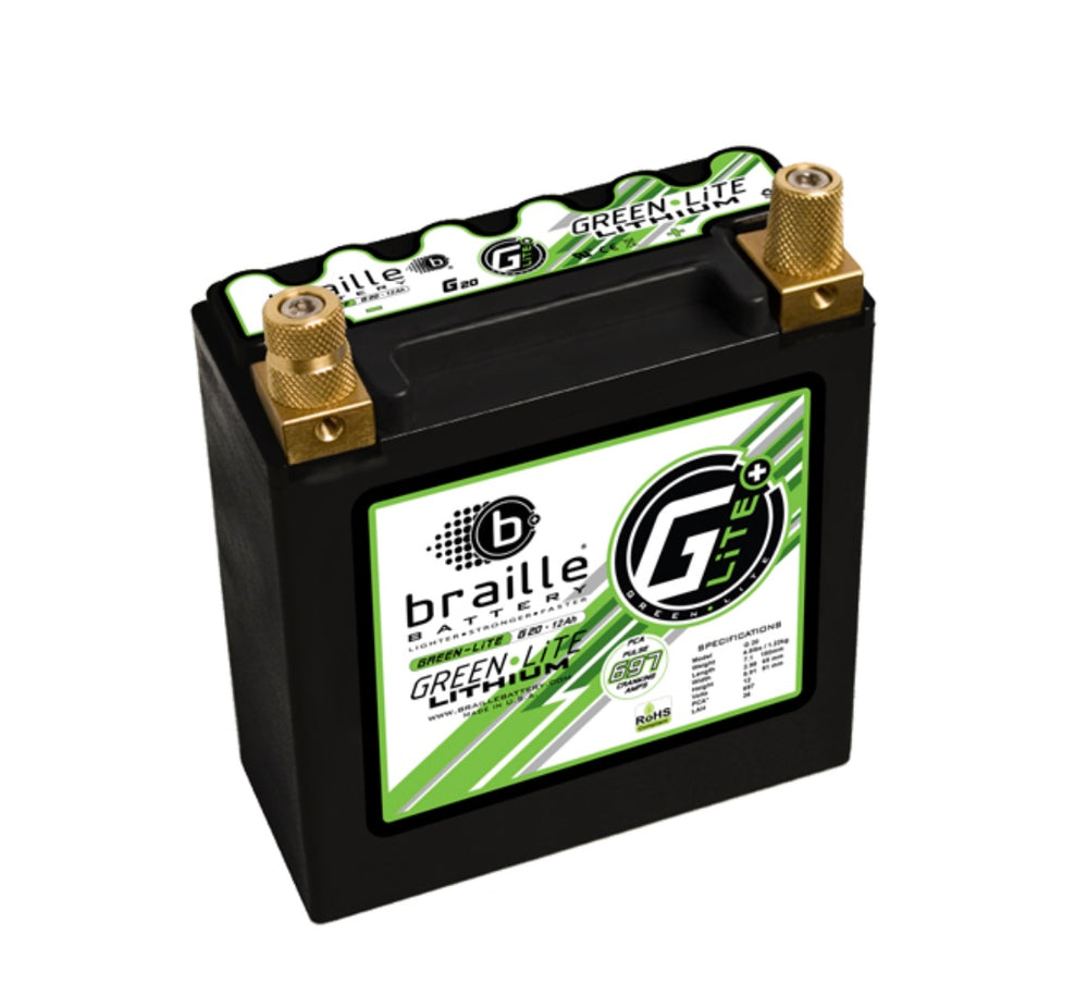 Batteries - Braille - G20H - G20 - GreenLite (Automotive Spec) Lithium Battery