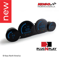 Koso North America - Meters - Gauges - HD-03L | 4 pieces LED kit (blue) | for Harley-Davidson®®