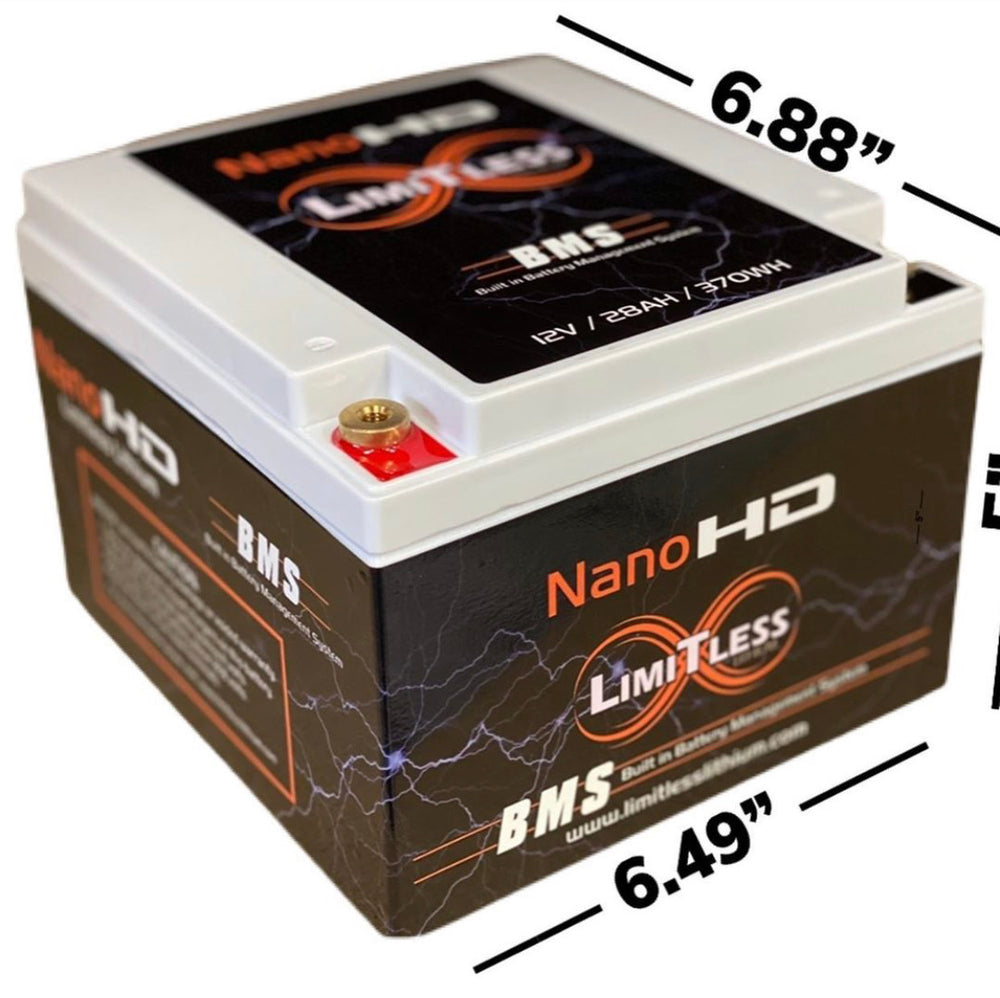 LIMITLESS LITHIUM - BATTERIES - Nano -HD Motorcycle / Power sports Battery