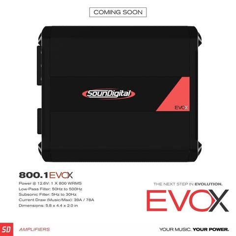 NEW SounDigital EVOX 800.1 - 2Ω or 4Ω