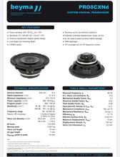 "Load image into Gallery viewer, Beyma - Coaxial Speaker - 8"" - PRO8CXnd"