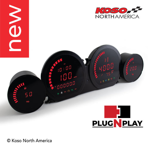 Koso North America - Meters - Gauges - HD-03L | 4 pieces LED kit (red) | for Harley-Davidson®