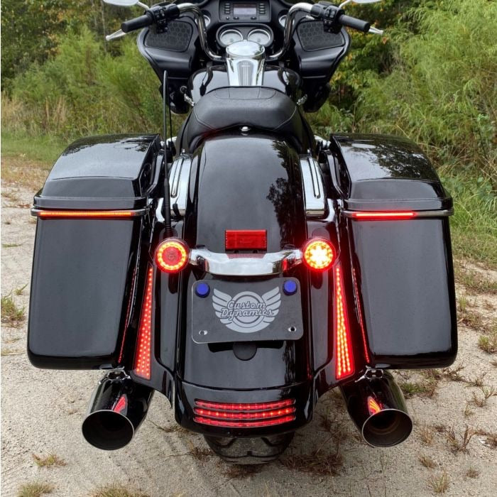 Custom Dynamics - BAG LIGHTS - SEQUENTIAL LOW PROFILE BAGZ™ SADDLE BAG LIGHTS FOR 10-13 H-D™ STREET GLIDE & ROAD GLIDE CUSTOM