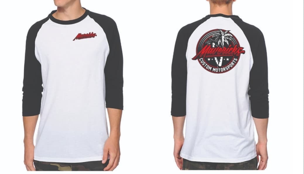 NEW MAVERICK APPAREL-LOGO BASEBALL T-SHIRTS