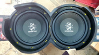 "Speaker Adapters & Mounts- Jefe Custom Cycles Dual 10"" Woofer Rings"