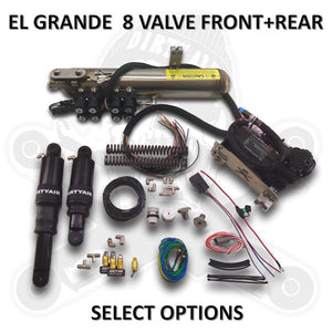 "DIRTY AIR -  ""El Grande"" Front and Rear Complete Fast-Up Tank Kit 8-valve"