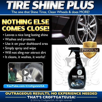 Croftgate USA Waterless Detail products - TIRE SHINE PLUS 32 OZ