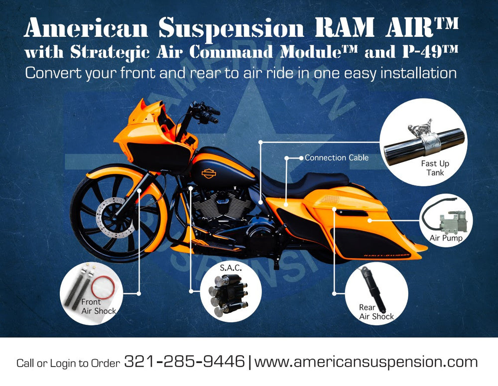 American Suspension - AIR RIDE -  RAM AIR Premium Rear Air ride only