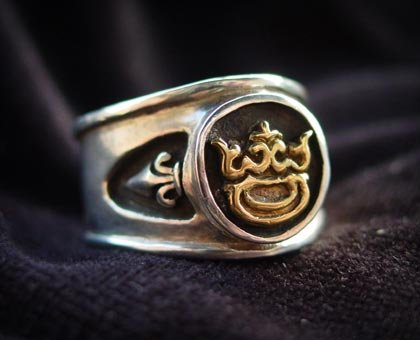 ring gold crown silver sterling