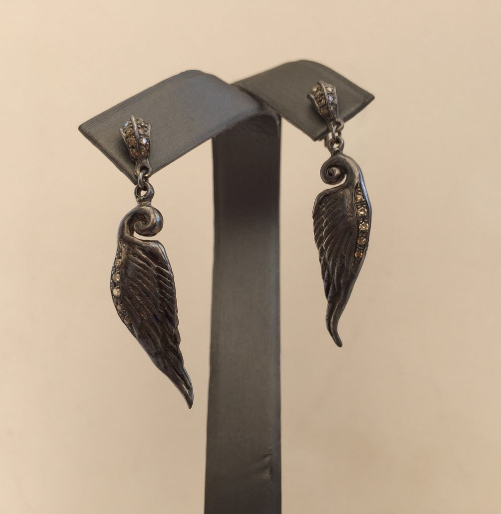 Sterling Silver Diamond wings