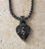 Diamond Guitar Pick Necklace by Roman Paul