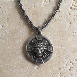 Necklace - Silver Lion Medallion by Roman Paul