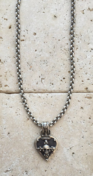 Necklace Silver Guitar Pick Amp Skull Kenny Chesney