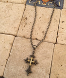 Cross - Necklace & Gold Diamond Cross