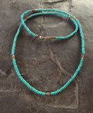 Necklace - Sterling Silver Roundels & Blue Magnesite