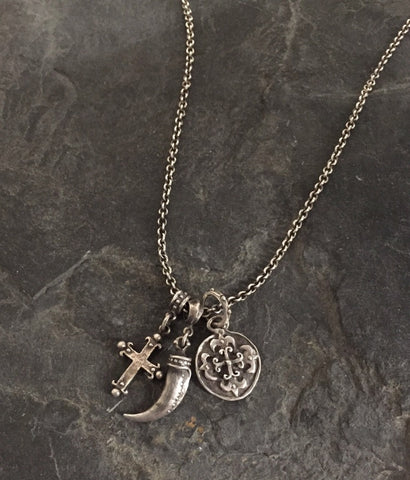 Necklace - Triple Charm Kenny Chesney Second Favorite