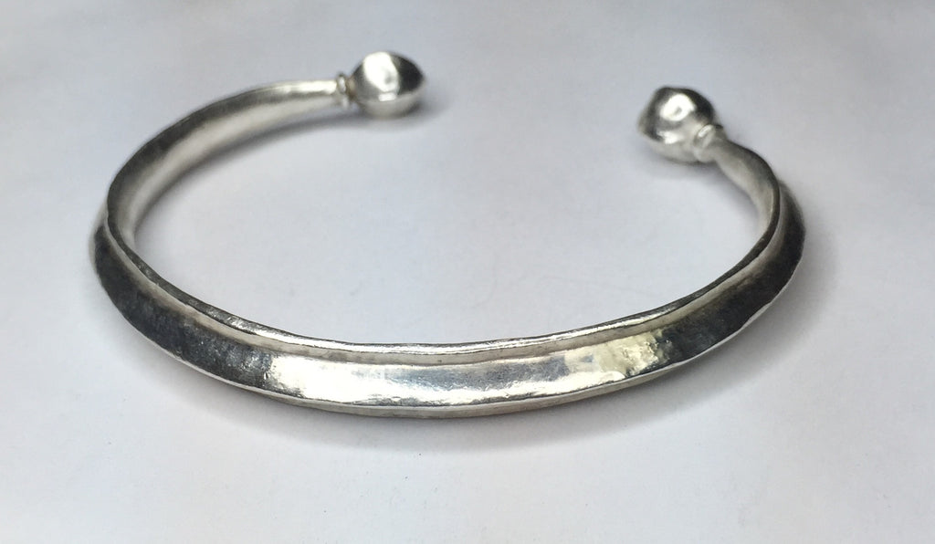 Sterling Silver Cuff Bracelet Ancient Rome Style