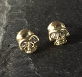 Earrings - 18k Gold Skulls & Diamonds