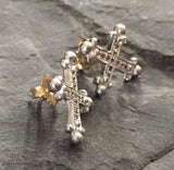 Earrings - Diamond Cross
