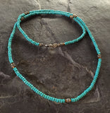Necklace - Silver Roundels & Blue Magnesite by Roman Paul