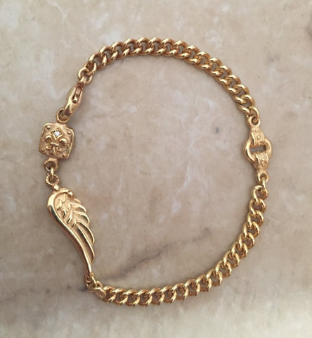 Bracelet - Angel Wing with Fleur de Lis