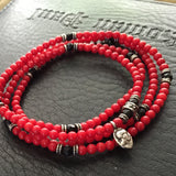 Necklace - Red Coral and Coin