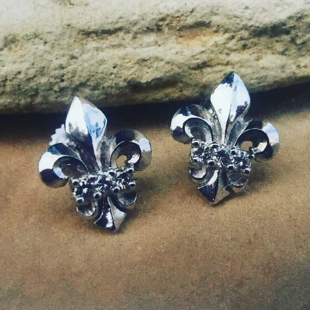 Diamond Fleur De Lis Earrings
