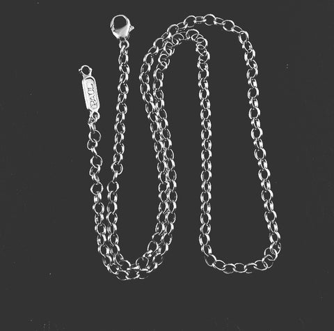 Sterling Silver Chunky 4mm Rolo Chain