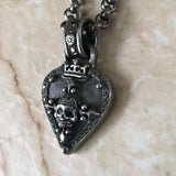 Necklace - Silver, Diamond Guitar Pick by Roman Paul