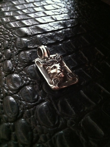 Sterling Silver Crowned Lion Head Pendant Roman Paul