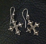 Sterling Silver Cross Hook Earrings