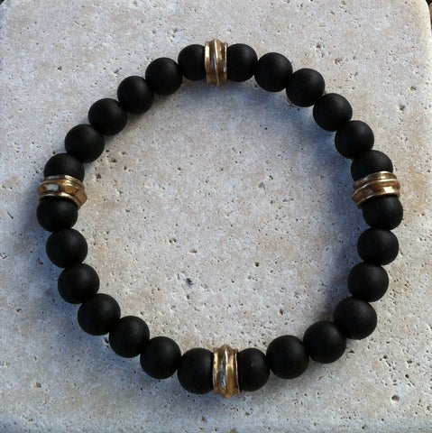 Bracelet - Ebony Beads with Rondels