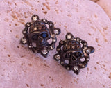 Silver Skulls with Diamond Pave Earrings