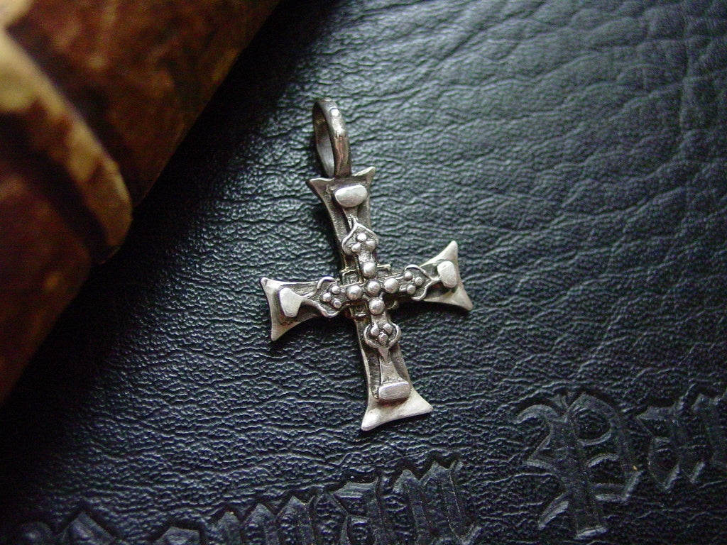 Sterling Silver Layered Cross Pendant  by Roman Paul