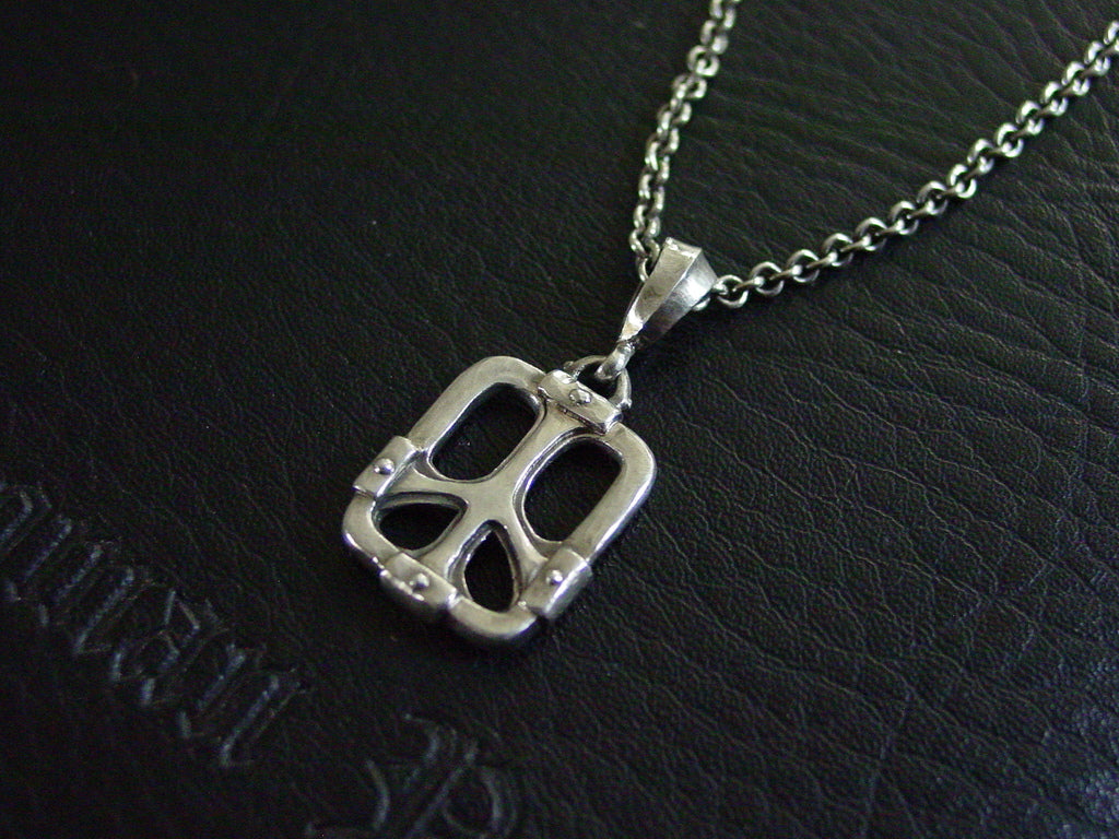 Sterling Silver Window Peace Sign Necklace