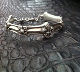 Sterling Silver Fleur De Lis Cuff with Diamond Pave & Lobster Clasp Closure