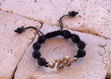 Bronze Snake Onyx Beads Bracelet by Roman Paul