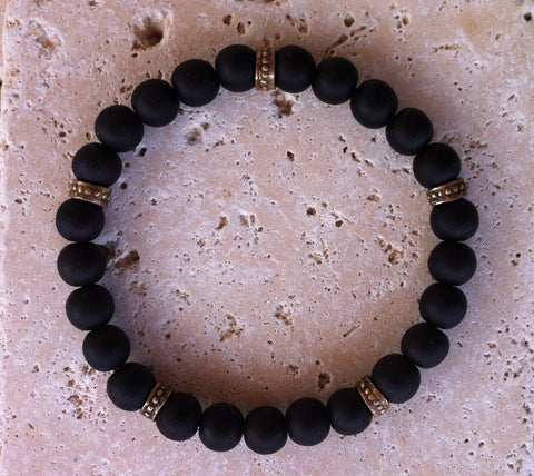 Bracelat - Black Ebony with Roundels
