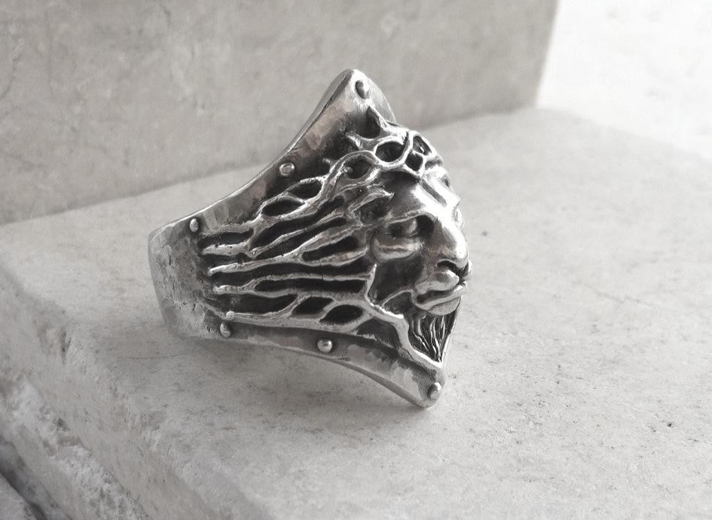 Ring -  Sterling Silver Lion by Roman Paul