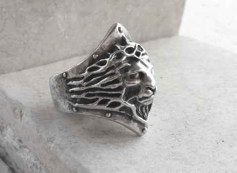 Ring -  Sterling Silver Lion