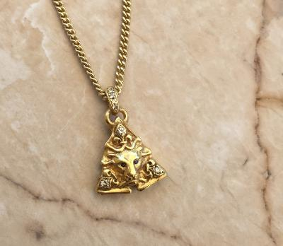 Necklace - Lion Face Piramide by Roman Paul