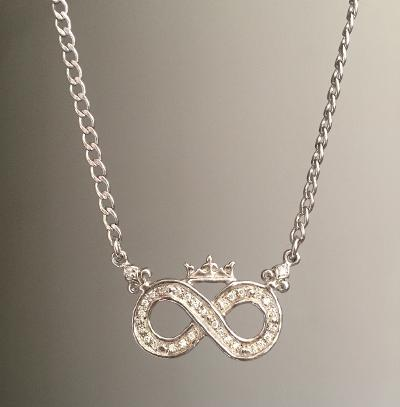 Necklace - Diamond Infinity Sign with Crown by Roman Paul