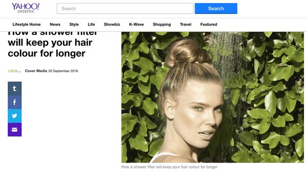 Yahoo! Lifestyle: How a shower filter will keep your hair colour for longer