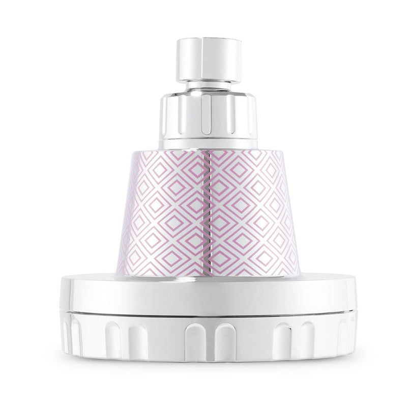 Wall-Mounted Shower Head in Pink + Citrus Vitamin C Shot