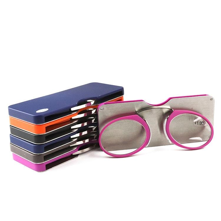 Glasses - Circle Mini Reading Glasses With Stick-On Phone Case