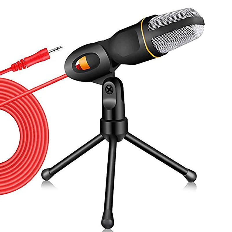 Microphone - 3.5mm Condenser Microphone With Tripod